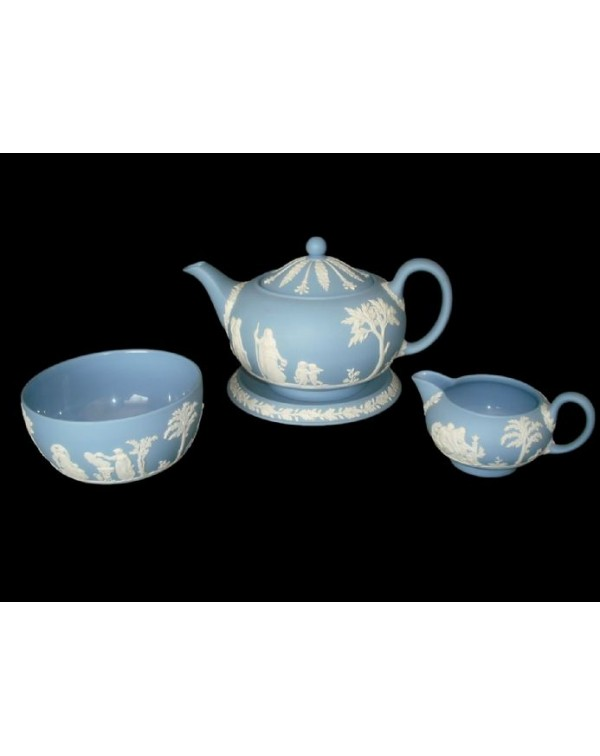 (OUT OF STOCK) WEDGWOOD BLUE JASPER VINTAGE TEAPOT...